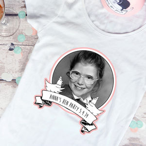 Personalised Hen Party T Shirt Transfer
