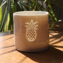 Porcelain Pineapple Tea Light