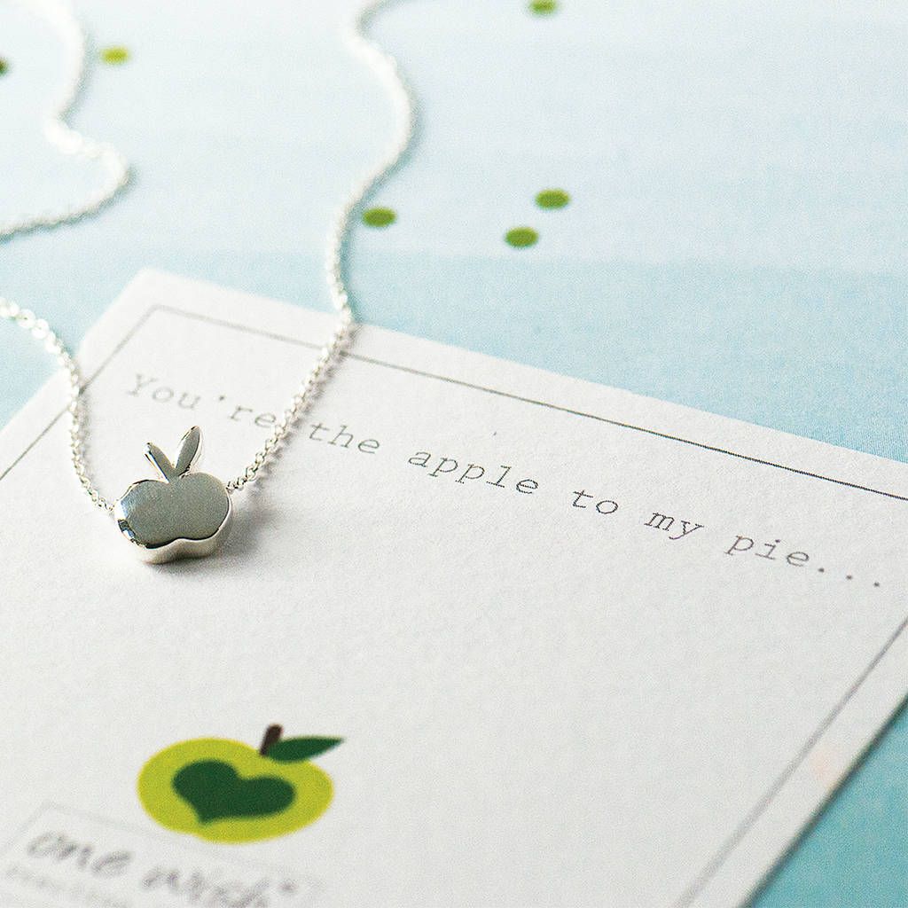 Apple Necklace In Sterling Silver