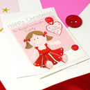 Personalised Rag Doll Relation Christmas Card