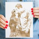 Personalised Foil Photograph Print