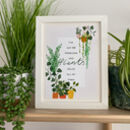 Plant Lovers Typography Print