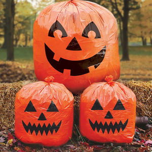 Halloween Pumpkin Garden Lawn Bags - party decorations