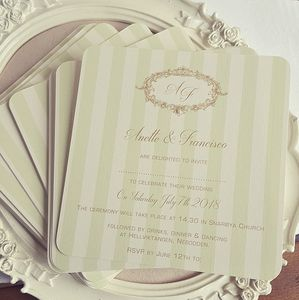 'Gold And Mint Wedding Invitations' - summer sale