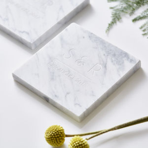 Personalised Initials Marble Coaster - home sale