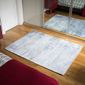 Concrete Effect Patterned Rug - what's new
