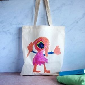 Personalised Child's Drawing Tote Bag