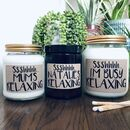 Personalised 'Relaxing' Handmade Scented Soy Candle