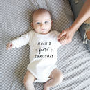 Personalised Baby Name First Christmas Bodysuit