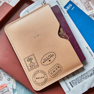 Personalised Travel Stamp Passport Holder