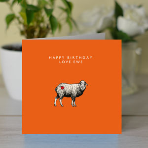 'Happy Birthday Love Ewe' Card