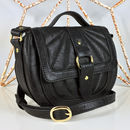 Quilted Black Saddle Bag