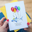 Personalised Shark Birthday Card