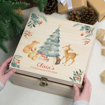 Personalised Little Forest Friends Christmas Eve Box