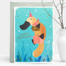 Platypus Presents Gold Foil Greeting Card