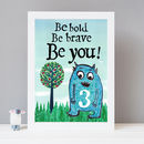 Monster Kids Motivational Print