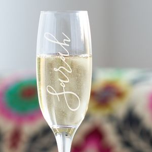 Name Champagne Glass - for her