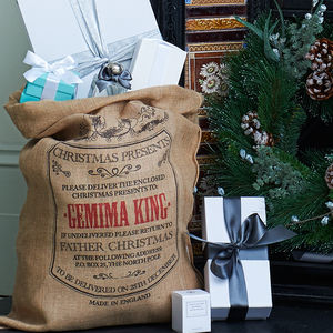 Personalised Burlington Christmas Sack - christmas decorations