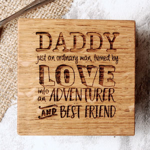 Personalised Adventurer Dads And Grandads Coaster - gifts under £25