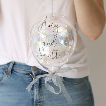 Personalised Hanging LED Glass Balloon Light