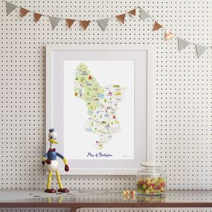 Map Of Derbyshire - drawings & illustrations