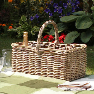 Picnic Basket With Bottle Holders - boxes, trunks & crates