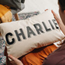 Personalised Name Modern Cushion