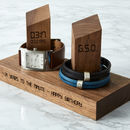 Personalised Time And Date Double Watch Stand