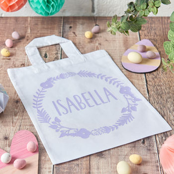 Wreath Easter Egg Hunt Bag