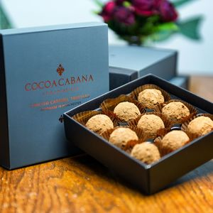 Vegan Salted Caramel Truffles - gifts for vegans