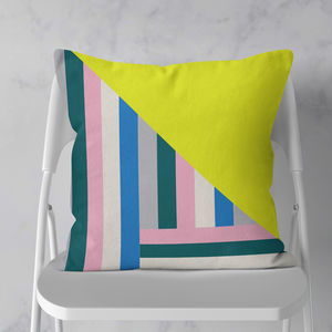 Geometric Grid Cushion - living room