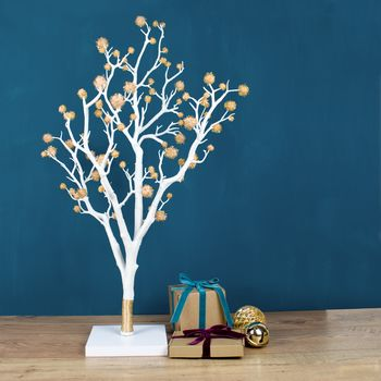 Metallic Pom Pom Christmas Tree