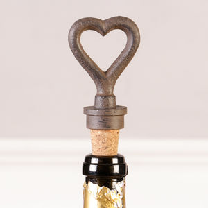 Personalised Heart Bottle Stopper Gift - drink & barware