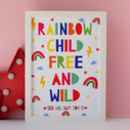 Personalised Rainbow Child Print