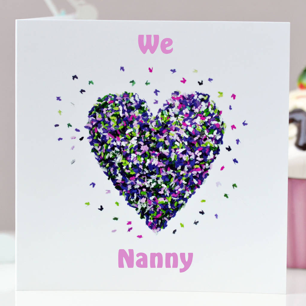 Butterfly We Love Nanny Card Birthday