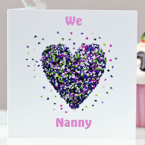 We Love Nanny Card /I Love Nanny Butterfly Card - birthday cards