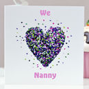 Butterfly We Love Nanny Card / Nanny Birthday Card