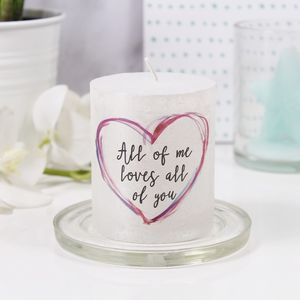 'All Of Me Loves All Of You' Metallic Candle For Her