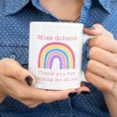 Teacher Rainbow Personalised Gift Mug