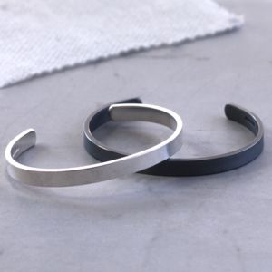 Oxidised Matte Silver Cuff Bracelet - valentine's gifts for him