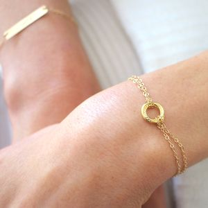 Twisted Circle Gold Bracelet - wedding jewellery