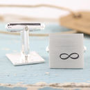 Personalised Silver Infinity Symbol Cufflinks