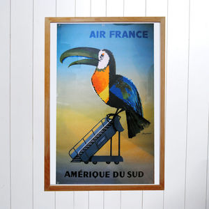Original Air France Amerique Du Sud Debois Poster