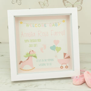 Personalised Rocking Horse Box Framed Print