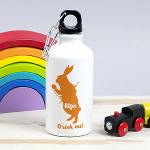 Children's Personalised 'Drink Me' Rabbit Waterbottle