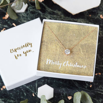 Merry Christmas Jewel Necklace Gift