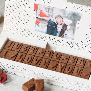 'Just To Say I Love You' Chocolate Card