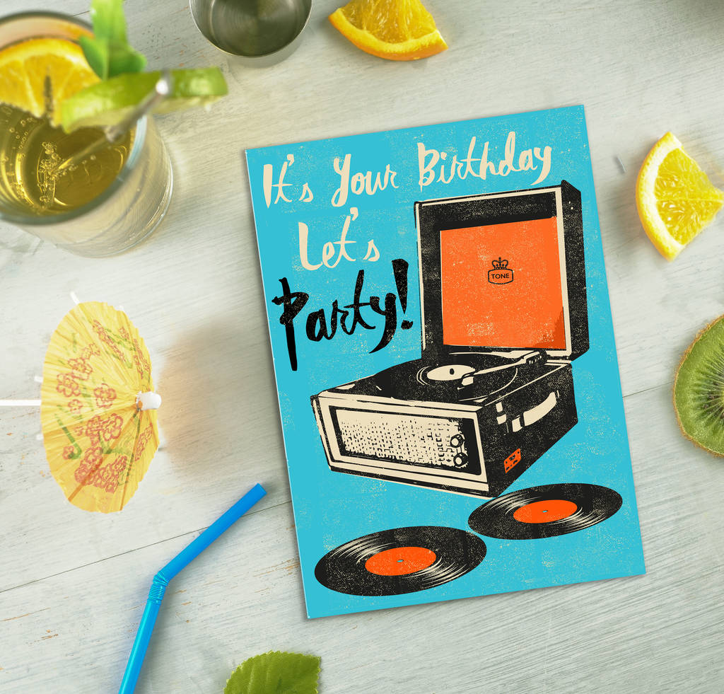 Record Player Birthday Card By Rocket 68