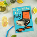 Record Player Birthday Card