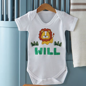 Personalised Lion Baby Vest